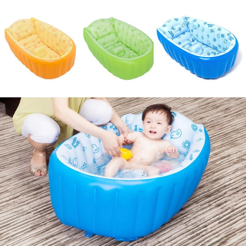 Inflatable Baby Swimming Pool Tub Infant Thicken Security Inflating Bathtub Bathing Shower Pad Folding Children Washbowl D3<br>