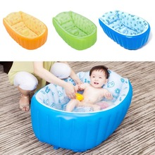 Inflatable Baby Swimming Pool Tub Infant Thicken Security Inflating Bathtub Bathing Shower Pad Folding Children Washbowl D3(China)