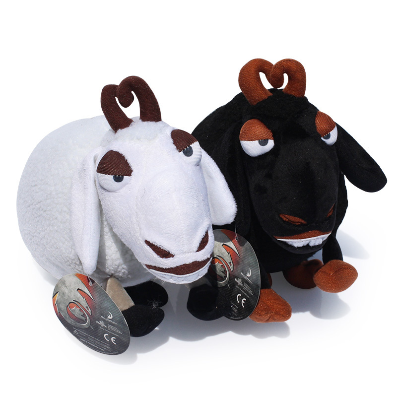 How to train your dragon 25cm White Black Sheep Plush Doll With Tag Brinquedos Toys Gift For Kids Free Shipping(China (Mainland))