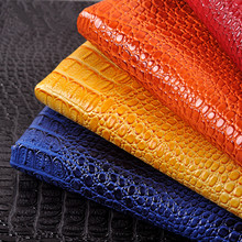 Faux Glitter PU Leather Crocodile Fabrics Synthetic Leather Artificial Decoration Leather Cloth Sewing Material Hide Wholesale
