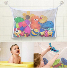 Toys Baskets Storage Bags Folding Eco-Friendly Baby Bathroom Mesh Bag Child Bath Toy Net Suction Cup 2016 kid bags Organizers(China)