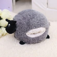30-40cm Goat Grey White Sheep Stuffed Plush Toy Doll Animal Girl Gift Hand Warmer Good Quality Soft Cute Lamb Fat Cushion Pillow