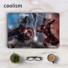 Captain America VS Iron Man Cool Laptop Sticker for Apple Macbook Air Pro Retina 11 12 13 15.6 inch Mac Notebook Full Cover Skin(China)