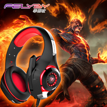 New gaming headphones for a mobile phone PS4/PSP/PC 3.5mm Wired Headphone with Microphone LED Lamp Noise Canceling Earphone(China)