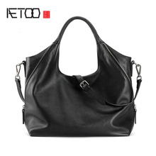 AETOO Original new first layer of leather shoulder Messenger bag women's leather handbag simple wild Crescent Moon tide(China)