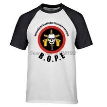 BOPE Elite Death Squad Brazil Special Force Unit Military Police men reglanT shirt brand fashion summer style
