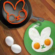 Hot 1PC Breakfast Silicone Fried Egg Mold Pancake Egg Ring Shaper Funny Cooking Tool