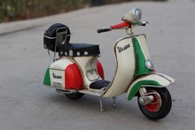 Free Shipping Handmade Antique Tin Model Green  VESPA Scooter  Motorcycle Model 1958