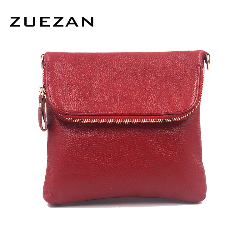2017 NEW Women GENUINE LEATHER Shoulder Bag 100% Cowhide Crossbody bags Real COW skin Fold Over handbag girl Fashion A075(China)