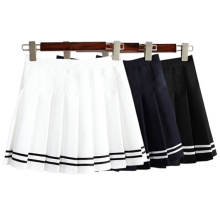Fashion Women Skirt Europe Summer AA Stlye Skirts Womens Saias Casual High Waist Mini Pleated Skirts For Women New 2016(China)
