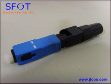 SC PC SM Fiber Optic Fast Connector, Pre-embedded,Telecommunication Standard,Fiber Connector