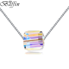 BAFFIN Original Crystals From SWAROVSKI Cubic Bead Pendant Necklace For Women Party Jewelry Infinity Chain Collares Jewelry