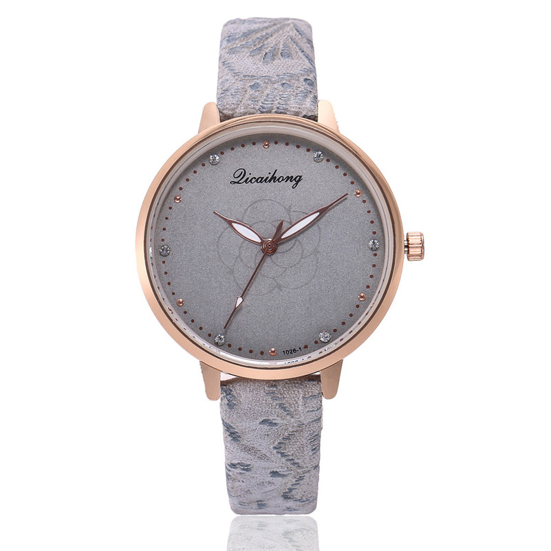 High Quality women fashion casual watch luxury dress ladies Leather Band Analog Quartz Round Wrist Watch clock bracelet M21 (4)