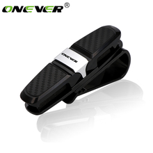 Onever Car Glasses Holder Portable Fastener Clip Sun Visor Eyeglasses Storage Cases Sunglasses Ticket Business Card Holder Clip(China)