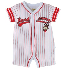 Baby Body suits open stitch boxer rompers Rookies Baseball Baby clothes white baby boy clothes jumpsuit