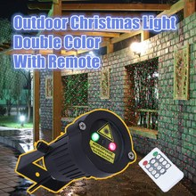 Outdoor Garden Decoration Waterproof IP44 Christmas Laser Light Star Projector Showers Red Green Static Twinkle With IR Remote(China)