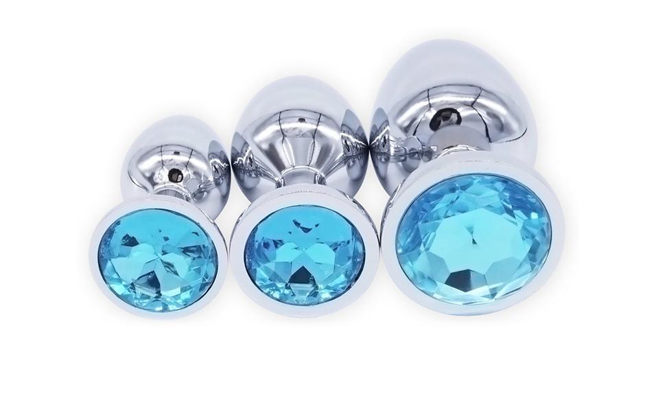 DOMI 3pcs/Set Small Medium Big Stainless Steel Metal Anal Plug Dildo Sex Toys Products Butt Plug Gay Anal Beads 3