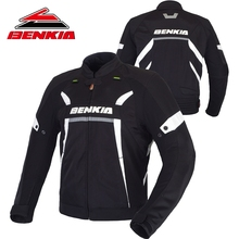 BENKIA Motorcycle Jacket Men Moto Jacket Protection Racing Jacket Moto Protection With Detachable Liner Veste Moto JW48(China)