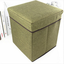 Various Patterns Multifunctional Foldable Storage Stool Creative Clothing Organizer Toy Storage Box Storage Chair