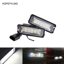 car styling 18SMD LED tail license plate light Canbus NO ERROR for Golf 4 5 6 7 LED rear plate lamp auto replacement accessory(China)