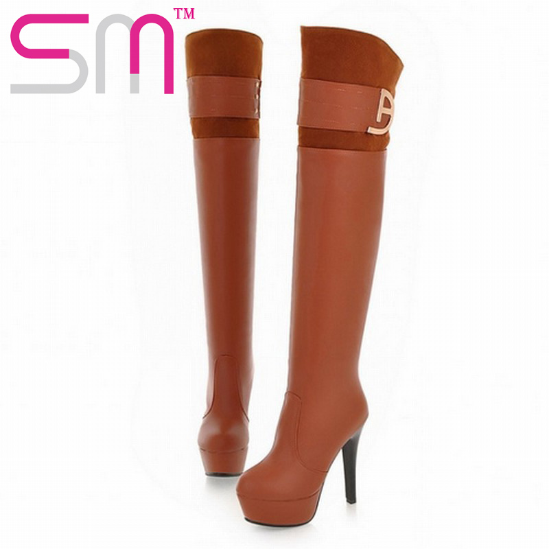 fashion high thin heels over the knee boots sexy nubuck spring fall boots vintage red botttom spring fall winter boots 2017<br><br>Aliexpress
