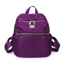 women high quality purple backpack lady cute durable travel backpack female cool purple square daypack mochila