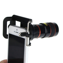 Free shipping Newest 8X Zoom Optical Telescope Camera Wide Angle Lens+Phone Holder For iPhone 4S 5 5S 6 6S Samsung Galaxy S HTC(China)