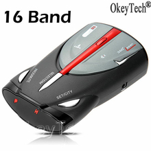 Newest 16 Band Radar Detector Car Speed Laser Voice Alert Russian English Car Speed Radar Testing System for Car Trucker Driving(China)