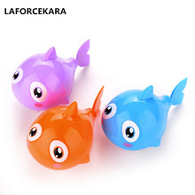 1pcs Funny Baby Kids Bathing Toy Plastic Pool Bath Toys Clockwork Wind Up Shark Plastic Cute Swimming Shark Holiday gifts(China)