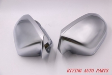 1 pair For Audi A6 C7 matt Silver chrome mirror case rearview mirror cover shell(China)