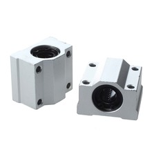 2Pcs 12mm SC12UU Linear Motion Ball Bearing Slider Slide Bushing Replacement CNC(China)