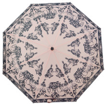 Rechar Automatic Umbrella Creative Abstract Black White Italian Church Painting Beach Umbrella Adult UV paraguas sunscreen pa(China)