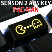 Novelty Shine Through Keycaps ABS Etched, pac man Pacman black custom mechanical keyboards light oem profile backspace(China)