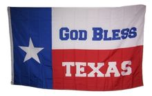 State of Texas God Bless Religion Christian Rough Tex Knitted Nylon Indoor Outdoor High Quality Football Flag 3X5 Custom flag(China)