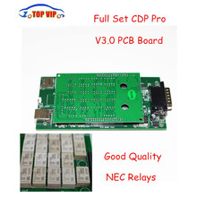 Best Price 10 pcs/lot TCS CDP V3.0 PCB Board High Quality new VCI Diagnostic Scan Tools for Cars & Truck 2014.R2/2015.1 cdp pro