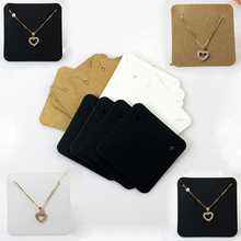 Mordoa Spot Wholesale Import Kraft Paper Jewelry Necklace Pendant Packaging Card Blank Jewelry Card 500pcs Jewelry Display(China)