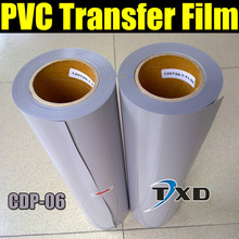 High quality PVC transfer vinyl for shirts, PVC transfer film for heat transfer with size 50CMX25M/Roll CDP-06 GREY COLOR