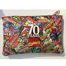 Marvel Comics Super Hero Pen Bag Leather Zipper Purse Pencil Stationery Wallet carteira masculina Men Women Anime Casual Wallets(China)