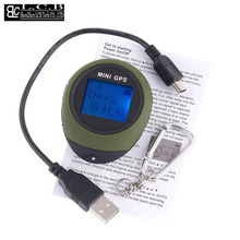 Handheld Keychain  Mini GPS data logger  USB Rechargeable For Outdoor Sport  Free shipping Dropshipping
