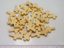 100 Natural Look Wooden Cross Beads Charm 22X15mm Wood Pendants