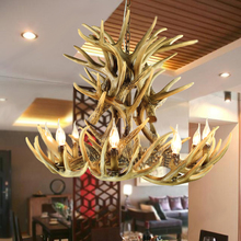 9 Head European Country Deer  Pendant Lamp Resin Vintage Lighting Fixtures Home Bar Room Decoration  EMS Free Shipping