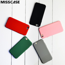 MISSCASE PC Hard Phone Case For iPhone 6 6s Plus 7 Plus 5 5S SE Minimalist Solid Color Protective Cover for iPhone 5 6 7 Cases(China)