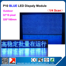 TEEHO Factory Supply P10 Blue LED Screen Module Outdoor Waterproof P10 Led Display Module 32*16 pixel dots Led Advertising Panel