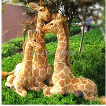 Artificial animal giraffe plush toy doll lifelike prone giraffe 70x48cm toy great gift t8802