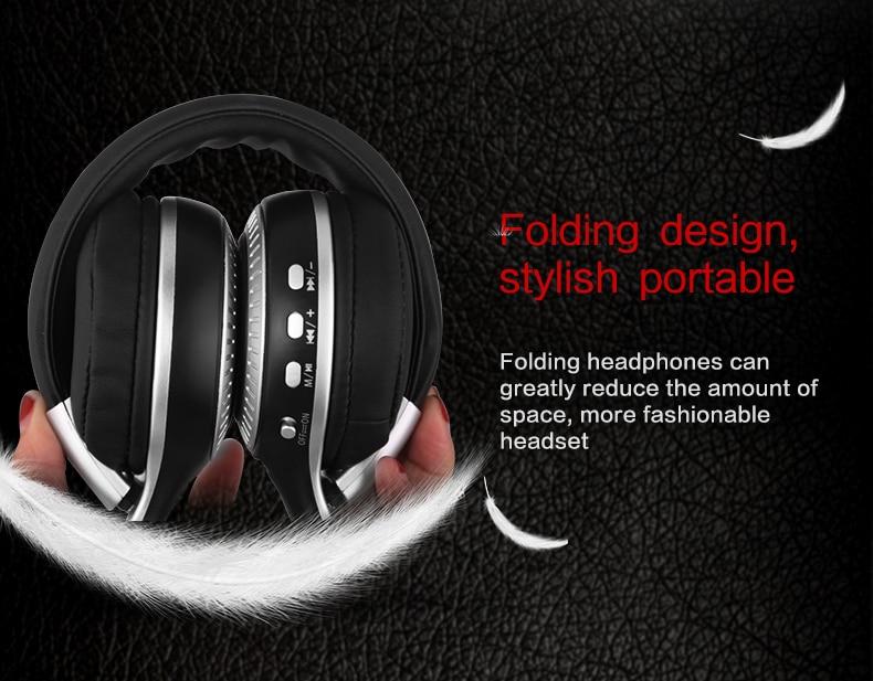 Zealot B19 Wireless Headphones LCD Display Screen HiFi Bass Stereo Earphone Bluetooth Headset with Mic + FM Radio + TF Card Slot 15