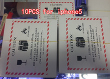 10pcs 1440mAh Cell Phone Battery Li-ion Battery Replacement Battery For Apple Iphone 5 Battery 2017 news AAA(China)