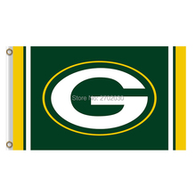 Green Bay Packers Flag Football Team Sport Flags 3x5 Super Bowl Champions Banner Fans World Series Banners Custom Logo(China)