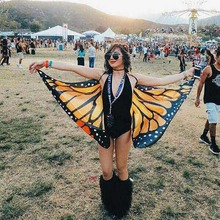 Special Design Butterfly Shape Shawl Beach Towel Polyester Personality Fashion Colorful Tapestry 145X65cm