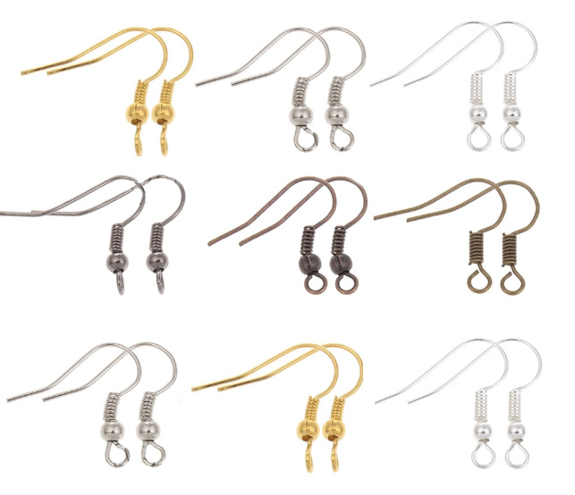YYW 100pcs/lot DIY Earring Findings Earrings Clasps Hooks Fittings DIY Jewelry Making Accessories Iron Hook Earwire Jewelry(China (Mainland))