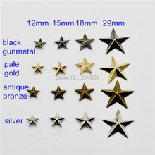 40 set of 29mm Large Star Cap Metal Rivets Studs For Leather Crafts,Punk Rock Star Rivet Spike,Silver /Gold / Bronze / Black